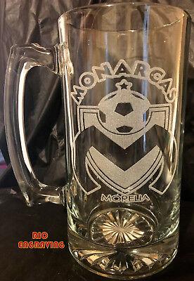 Laser Engraved Beer - MONARCAS MORELIA sport Beer Mug 26.5 oz Personalized Laser Engraved FREE SHIP
