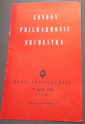 1956 Royal Festival Hall program London Philharmonic Orchestra Massimo Freccia