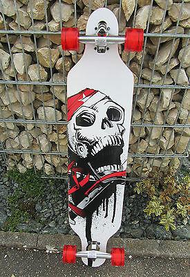 Longboard 41 LED DROP RACE ABEC 11 Totenkopf  Skateboard Hohe Qualität 43912