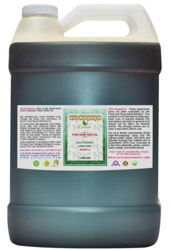 ORGANIC HEMP OIL 100% PURE HEMP SEED OIL UNREFINED COLD PRES