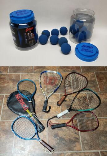 Big Lot of Racquetball Racquets Rackets & Balls