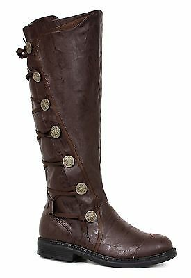 Brown Steampunk Serenity Space Captain Victorian Pirate Cosplay Mens New - Mens Brown Pirate Boots