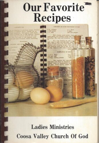 CROPWELL AL 1983 COOSA VALLEY CHURCH OF GOD COOK BOOK OUR FAVORITE RECIPES *RARE