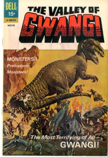 Movie Classics  #912  The Valley of Gwangi  December 1969    VF+  Dell Publisher