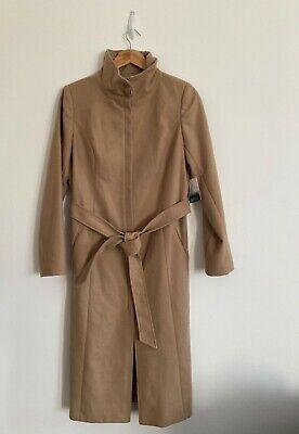 Kensie Taupe/Beige Slim Fit Funnel Neck Coat Size Large