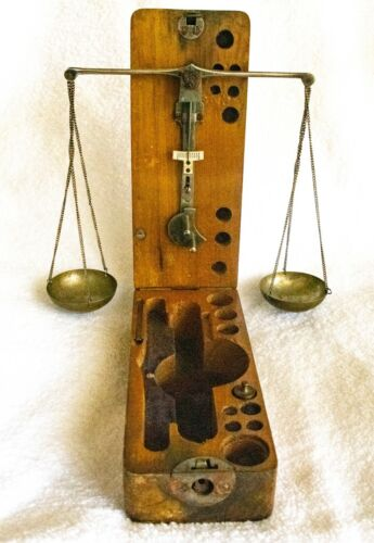 Antique Jeweler/Gold Portable Scale, Free Shipping, Humane Society Benefit