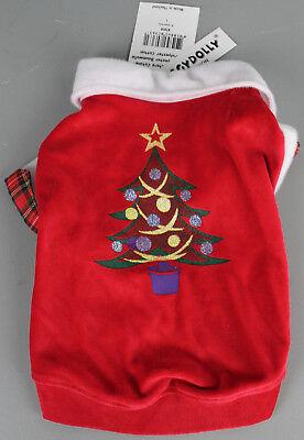 Doggy Dolly ST010 Fleece Pullover für Hunde Weihnachtsbaum Kostüm Gr L B16-L6 ()