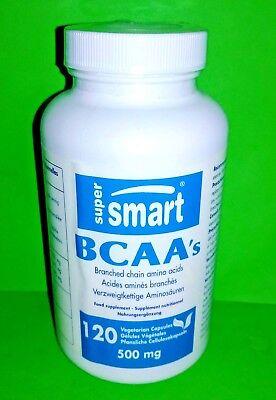 Bcaa's 500 MG 120 Capsules Super Smart Bcaa 500 Mg 120 Capsules
