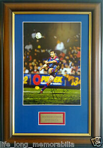 ANDREW JOEY JOHNS ACTION PHOTO SIGNED AND FRAMED