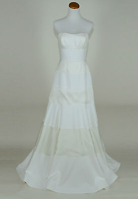 J Crew Collection Cotton Organza Faye Wedding Gown 8 Ivory