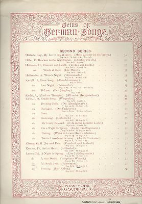 All Soul's Day Allerseelen Sheet Music Piano Mezzo Soprano Voice 1886 Lassen Classical Soprano Sheet Music