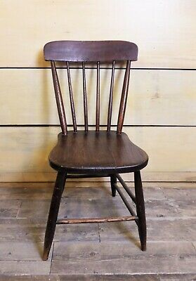 Antique Vintage Wooden Child's Windsor Chair Spindle Back Primitive Country  Antique Spindle Back Chairs