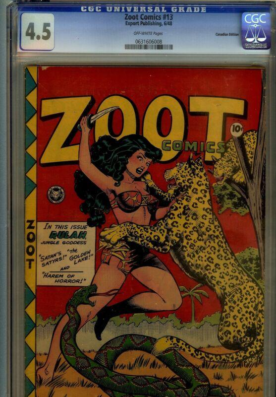 ZOOT #13- CGC 4.5 CANADIAN EDITION- 1948 RULAH CVR
