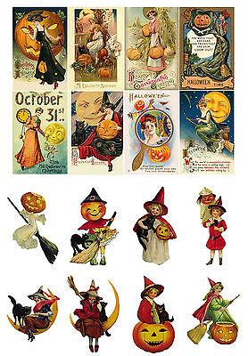 """как выглядит Decoupage Paper [10sh A4 /8""""x12""""] Halloween FLONZ 013 Vintage Craft Scrapbooking фото"""