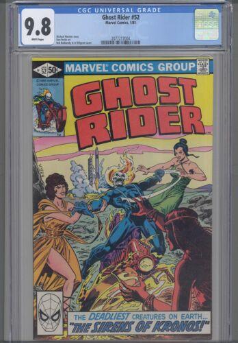 Ghost Rider #52 CGC 9.8 1981 Marvel Sirens of Kronos :New Frame