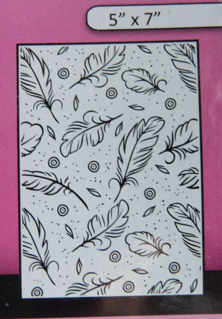 """Crafts-Too/CTFD3102/Embossing /Folder/Feathers 5"""" x 7"""""""