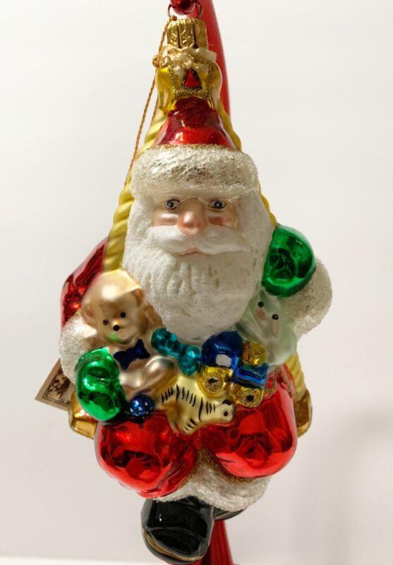 """Polonaise by Komozja for Kurt Adler """"Santa On A Swing"""" AP944"""