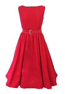 Vintage 1950s 60s Rockabilly Evening Party Cocktail Swing Audrey Hepburn Dress