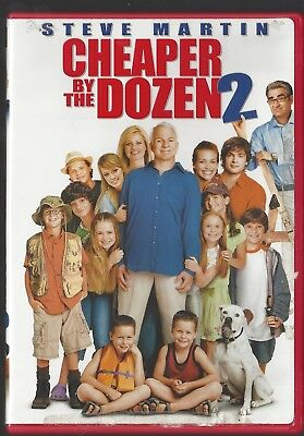 Cheaper By the Dozen 2 (DVD, 2006, Dual Side) Steve Martin, Bonnie (Bonnie Hunt Cheaper By The Dozen 2)