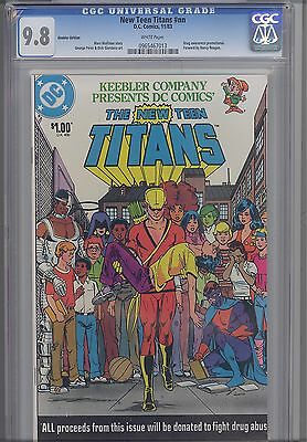 The New Teen Titans  Nn  Cgc 9 8 1983 Keebler One Shot Drug Issue  1  2  3  4