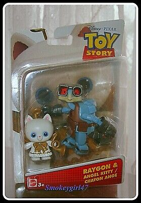 2 Pack Mattel DPF07 Disney//Pixar Toy Story 4 Angel Kitty And Raygon Figure