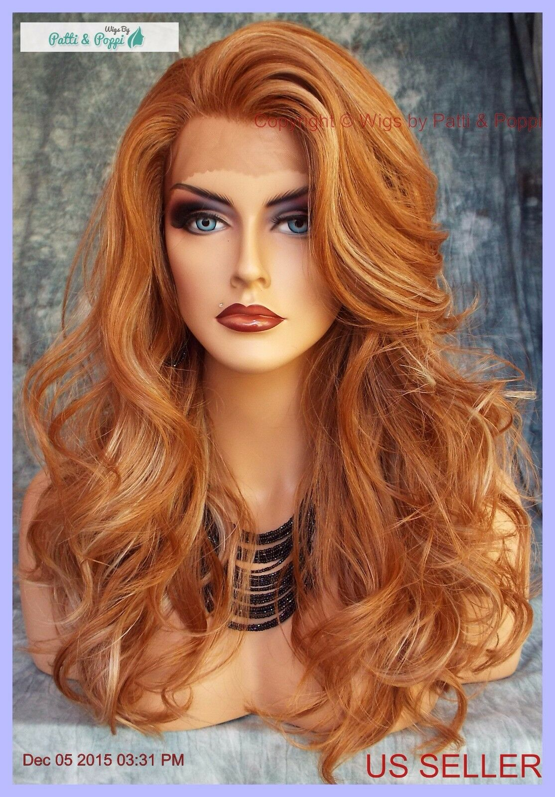 Lace Front Heat Friendly Wig Soft Layered Curls F27 613 Strawberry Blond 216