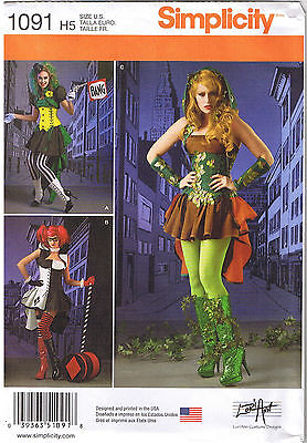 Cosplay Comic Villainess Steampunk Costume LoriAnn Sewing Pattern 6 8 10 12 14 - Villainess Costume