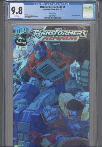 Transformers Armada #1 CGC 9.8  Wrap-a-round Silver Cover PGX 9.9 REGRADED CGC