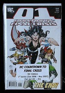 DC COUNTDOWN TO FINAL CRISIS 1 to 51 - Complete Set - 1st Print