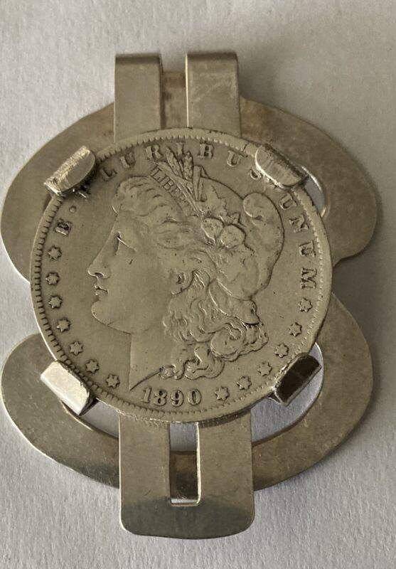 1890 Morgan Silver Dollar Sterling Silver Money Clip