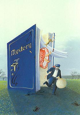 Soizick Meister Kunstkarte Postcard Art Kleeblatt Fenster