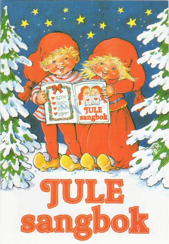 NEW SCANDINAVIAN NORWEGIAN CHRISTMAS SONG BOOK JULE SANGBOK 3 WOODEN RED HEARTS
