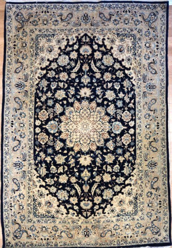 Fantastic Floral - 1940s Antique Oriental Rug - Handmade Carpet - 3.9 X 5.6 Ft.