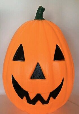 "Empire Halloween Blow Mold Large Light Pumpkin Jack-o-Lantern Vintage 28"" Orange"