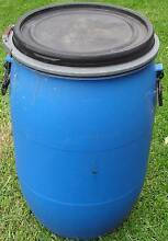 Blue tub with clip lid and handles Ivanhoe Banyule Area Preview