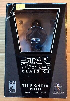STAR WARS CLASSICS: TIE FIGHTER PILOT BUST (2007) Gentle Giant; New, Mint in Box