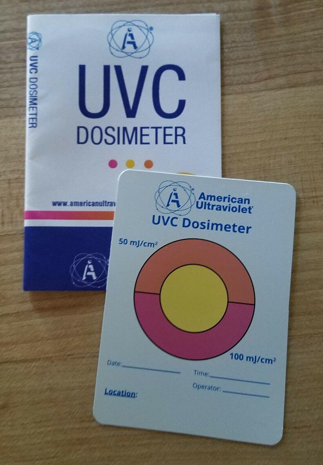 UVC TEST CARD Dosimeter UV-C germicidal TEST for UV LED light sanitizing lamp