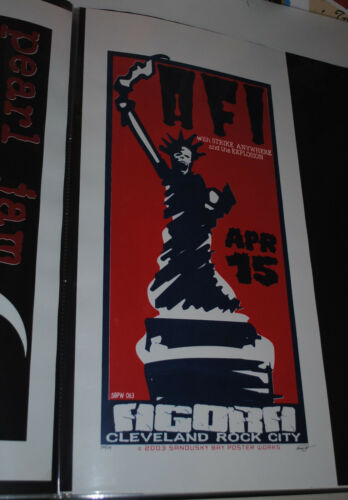 AFI Cleveland 2003 concert poster #/69 rare art Strike Anywhere / The Explosion