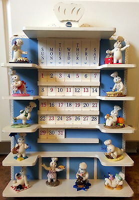 Pillsbury Doughboy Perpetual Calendar Vintage Danbury Mint 1997 Collector Shelf