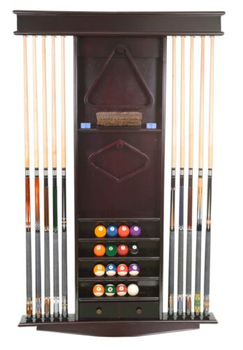 Cue Rack Only -  Deluxe 10 Pool Cue - Billiard Stick + Ball Set Wall Rack
