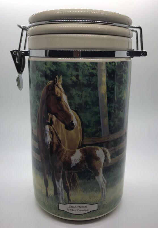 Josie - Horses by Chris Cummings Wild Wings 2007 10in Ceramic Canister