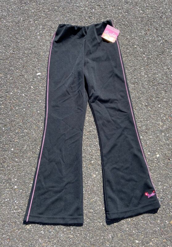 Vintage 1999 NWT Girls Barbie Embroidered Track Pants - Size 10