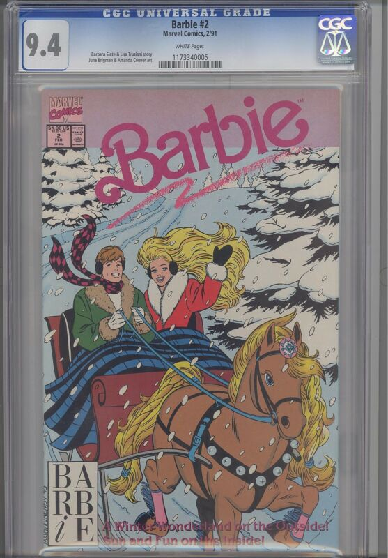 Barbie #2 CGC 9.4 Barbie and Ken Marvel 1991 Comic: Price drop!