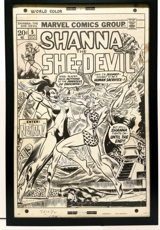 Shanna She Devil #5 by John Romita 11x17 FRAMED Original Art Print Marvel Comics