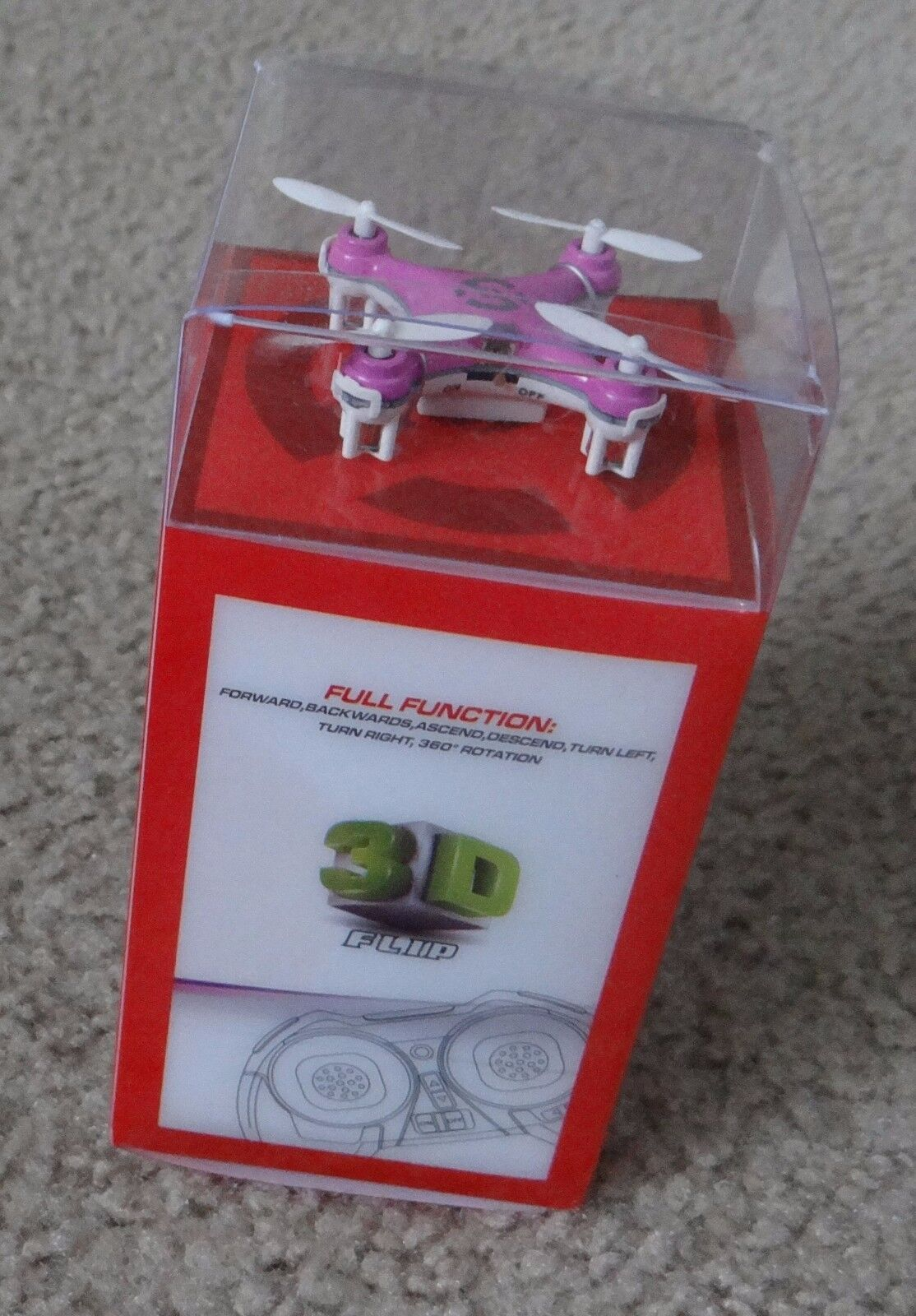 Cheerson CX-10 4CH 2.4GHz 6 LED Rechargeable Mini Nano RC UFO Quadcopter - Pink