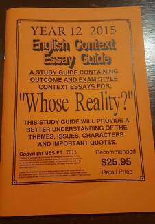 neap whose reality edition textbooks gumtree  english context essay guide whose reality