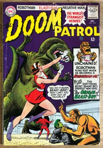 DOOM PATROL #100 : DEC 1965 : 2nd APP & ORIGIN BEAST BOY! : DC COMICS : CCX