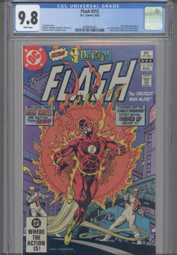 Flash #312 CGC 9.8 1982 DC Comic Heat Wave App: New Frame
