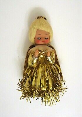 VTG Mid Century 60s/ 70s Figural Angel Christmas Tree Topper Retro Japan 8.5""