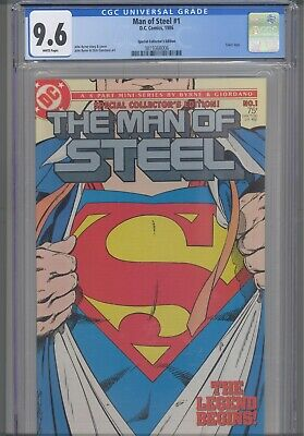 Man of Steel #1 CGC 9.6 1986 DC John Byrne Story, Art & Cover Collector Edition